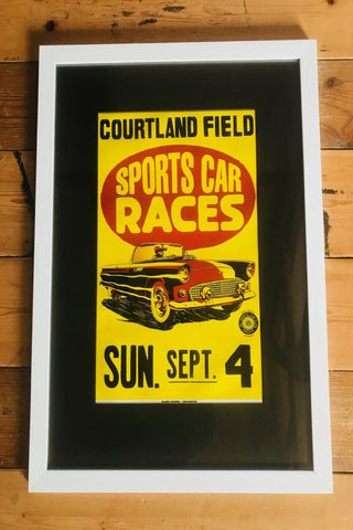 Vintage Sports Car Races Poster.