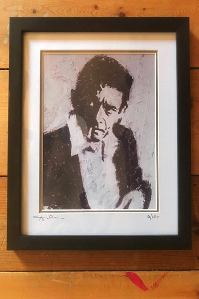 """The Man In Black"" Signed Limited Edition Print"