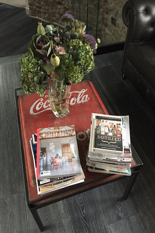 Coca Cola Vintage Fridge Coffee Table