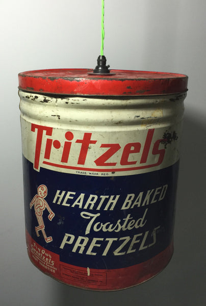 Tritzels Toasted Pretzels Can Pendant Light