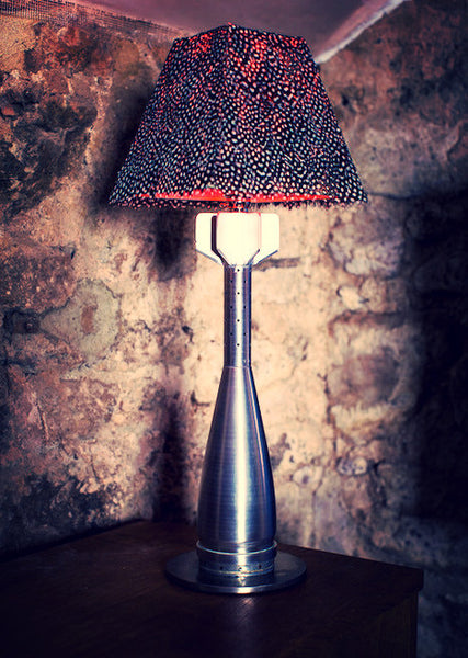 Polished Mortar Round Lamp