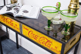 Yellow Coca Cola Console Table