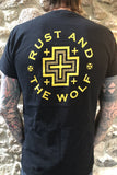 Rust And The Wolf Desert Cross T Shirt