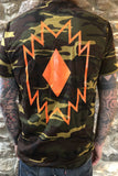 Rust And The Wolf Camouflage Navajo T Shirt