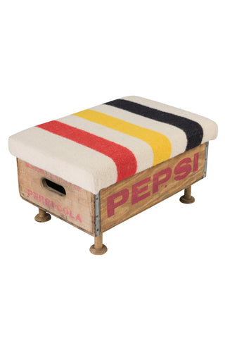 Hudson Bay Trading Company Blanket Foot Stool