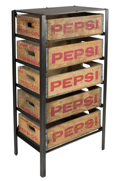 Pepsi Cola Crate Chest Of Drawers