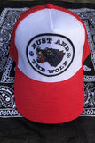 Rust And The Wolf Red Wolf Patch Trucker Cap