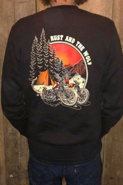 Rust And The Wolf Chopper Sweatshirt