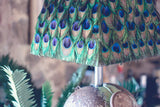 Petrol Tank Lamp With Peacock Feather Shade