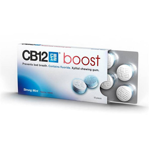 CB12 Boost Sugar Free Chewing Gum Strong Mint 10