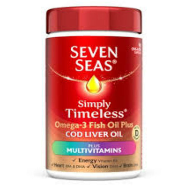 Seven Seas Simply Timeless Omega3 Fish Oil Plus Cod Liver Oil + Multivitamins