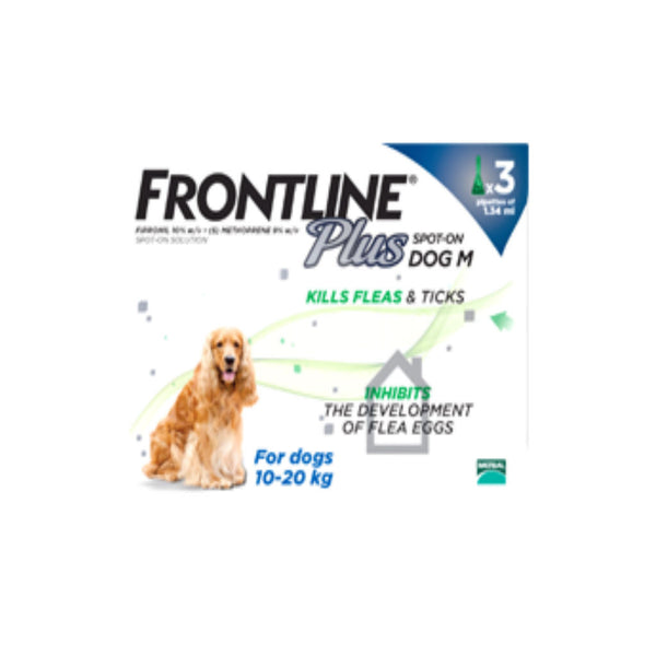 Frontline Plus Spot On Dog M 10-20kg