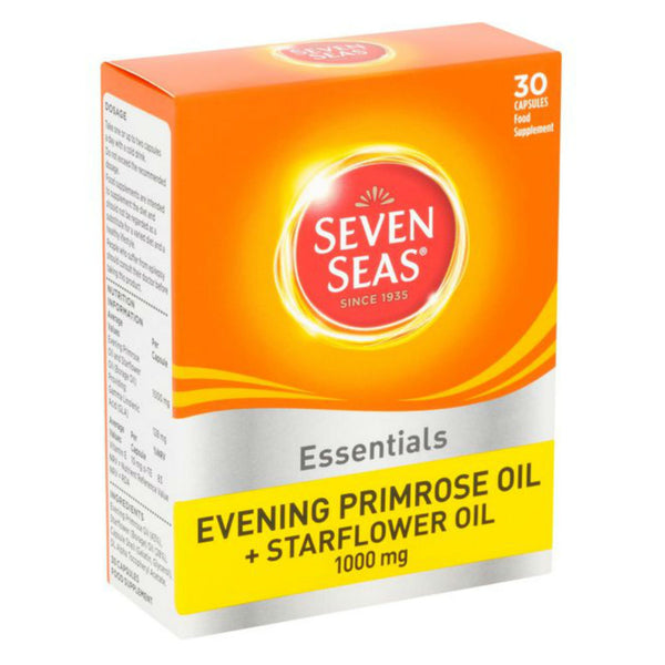 Seven Seas Essentials Evening Primrose Oil + Starflower Oil 1000mg Capsules 30