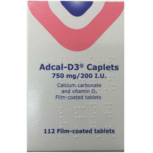 Adcal D3 750mg Caplets 112