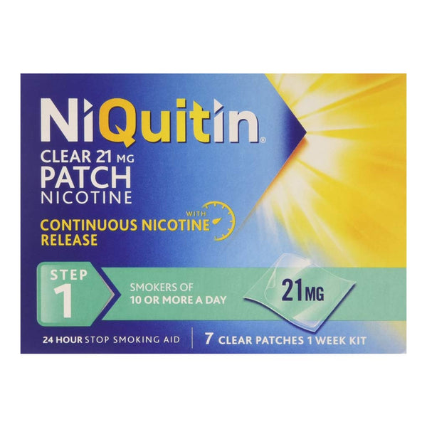 NiQuitin CQ 24 Hour Clear Patches 7 - Step 1