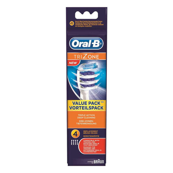 Oral-B TriZone Electric Toothbrush Replacement Head 4 pack