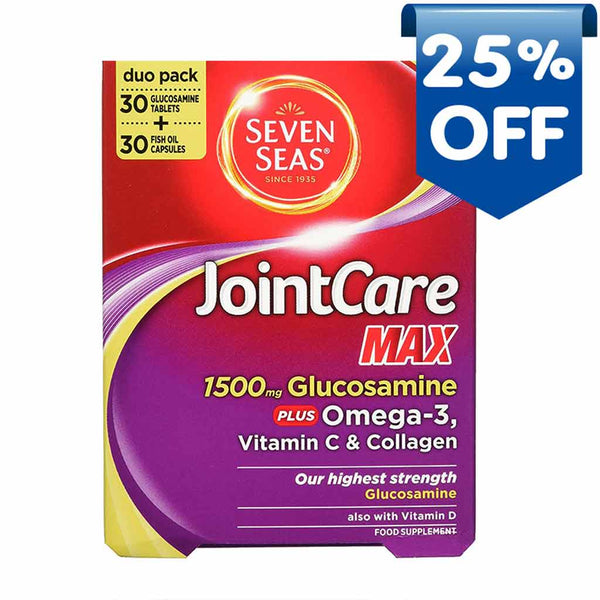 seven-seas-joint-care-max-1500mg-glucosamine-plus-omega-3-vitamin-c-collagen-duo-pack