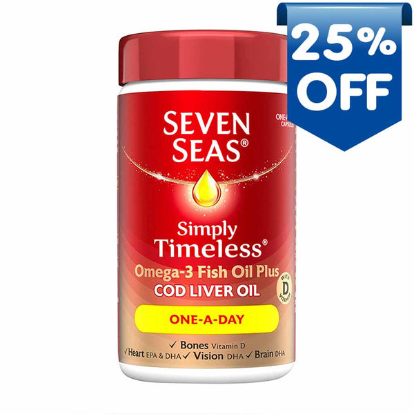 seven-seas-simply-timeless-marine-oil-with-cod-liver-oil-one-a-day-capsules-120
