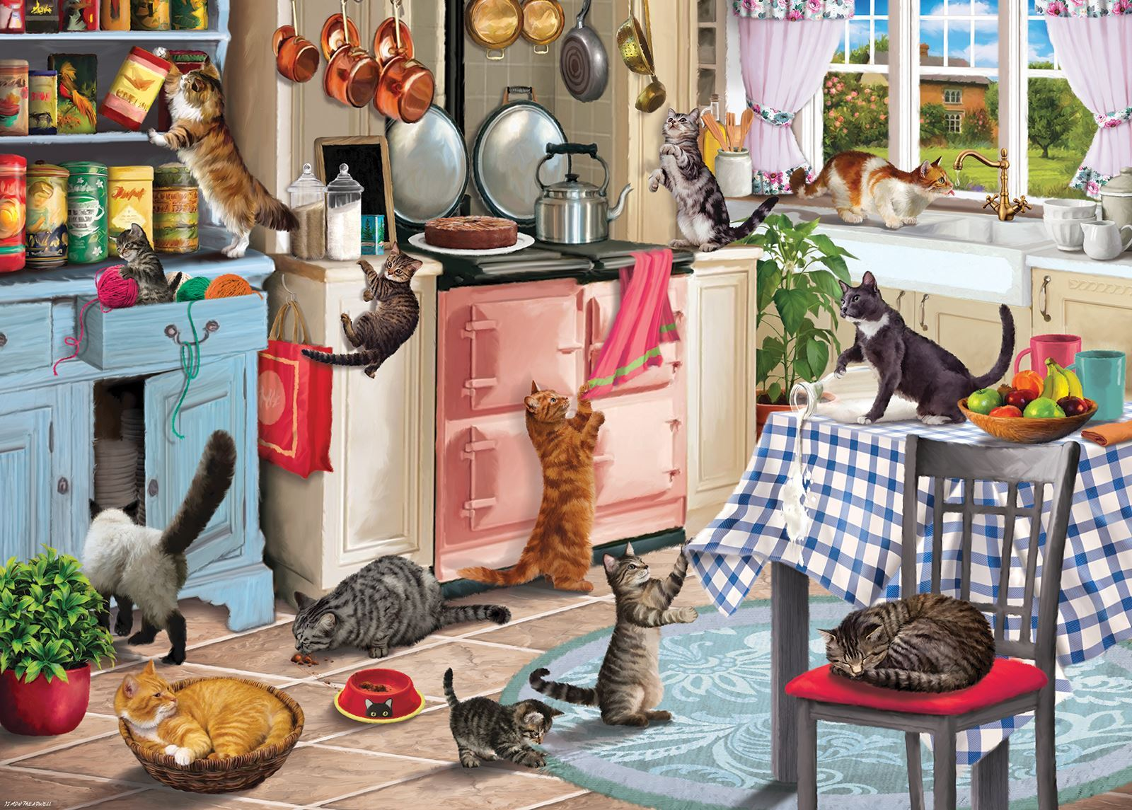 Cats in the Kitchen Jigsaw Puzzle