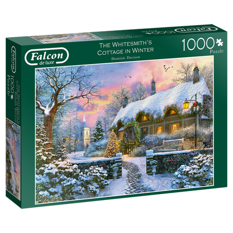 whitesmiths cottage in winter falcon de luxe jigsaw puzzle