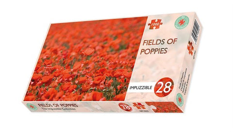 Fields of Poppies - Impuzzible No. 28 - 1000 Piece Jigsaw Puzzle