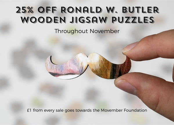 movember - 25% off ronald w butler traditional wooden jigsaw puzzles