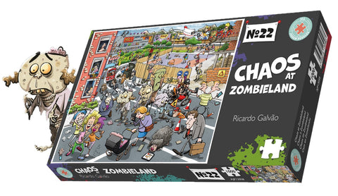 Chaos at Zombieland 1000 or 500 Piece Jigsaw Puzzle - Chaos no. 22