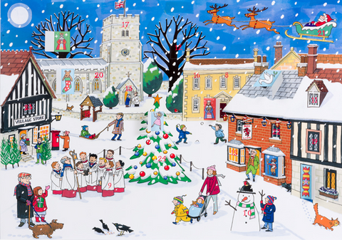 Christmas in the Village 1000 Piece Jigsaw Puzzle