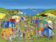 Far from the Madding Crowd, The Camping Collection, Trai Hiscock 1000 or 500 Piece Jigsaw Puzzle