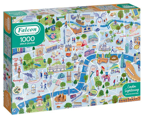 London Sightseeing - Falcon Contemporary 1000 Piece Jigsaw Puzzle