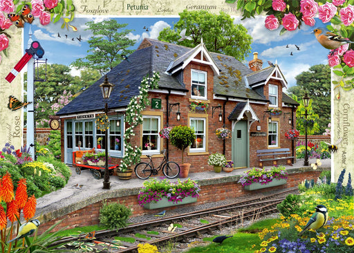 Country Cottage Collection - Railway Cottage 1000 Piece Jigsaw