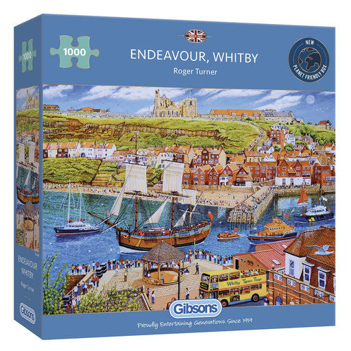 Gibsons Endeavour, Whitby 1000 piece Jigsaw Puzzle box