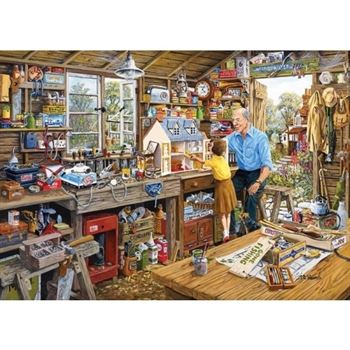 Gibsons Granddads Workshop Jigsaw Puzzle (1000 Pieces)