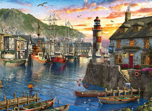 Sunrise at the Port 500 Piece Jigsaw Puzzle