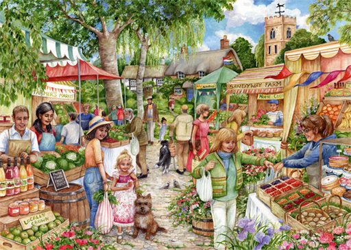 The Farmer's Market 1000 Piece Jigsaw Puzzle