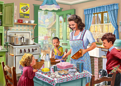 Baking with Mother 1000 Piece Jigsaw Puzzle