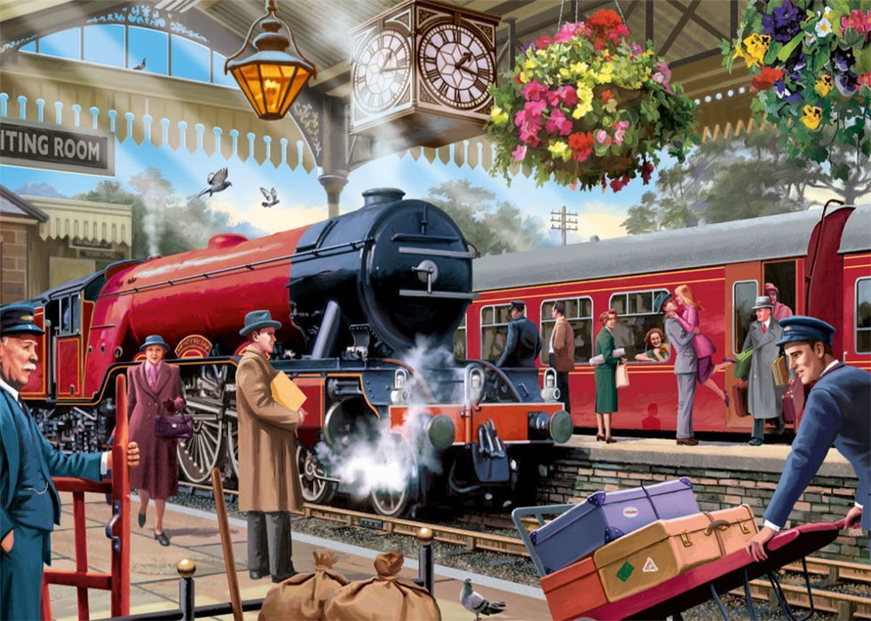 Waiting on the Platform - Falcon de Luxe 1000 Piece Jigsaw Puzzle