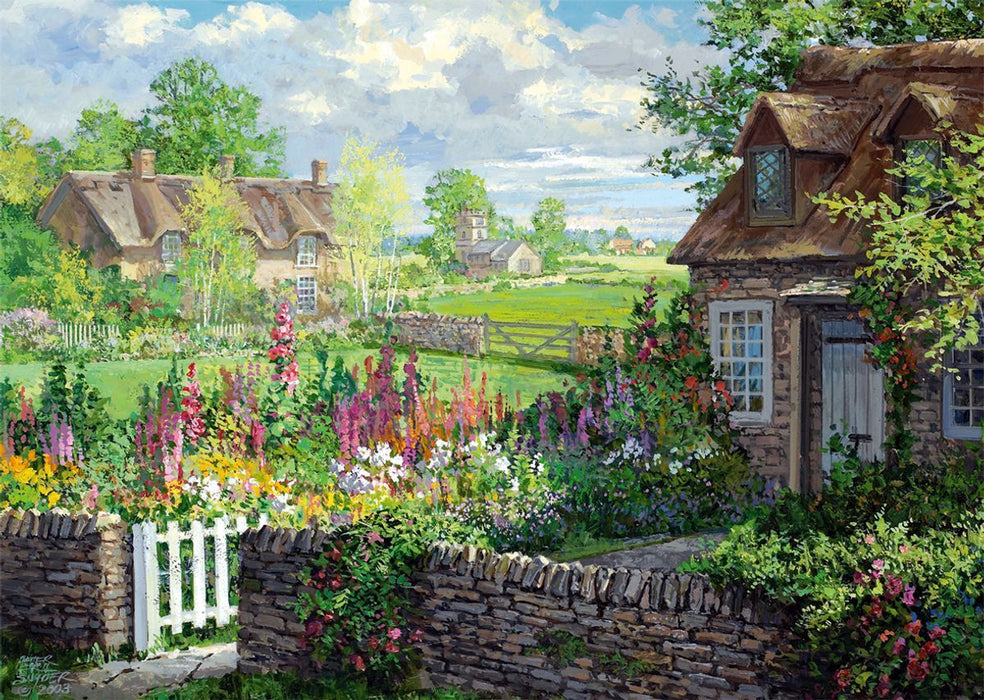 Romantic Cottage Cottages - Falcon de Luxe 2 x 500 Piece Jigsaw Puzzle