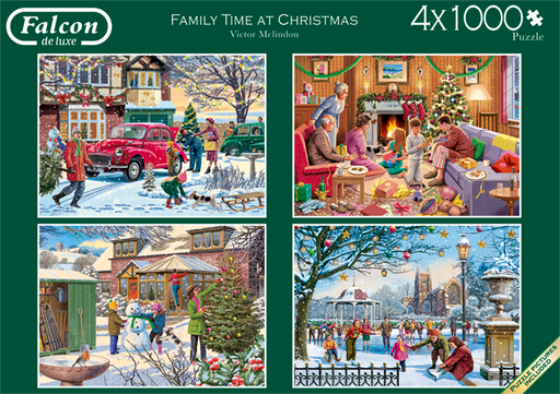 Family Time at Christmas Falcon de Luxe Jigsaw Puzzle