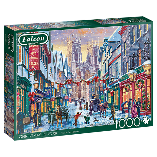 Christmas in York - Falcon de Luxe 1000 Piece Jigsaw Puzzle
