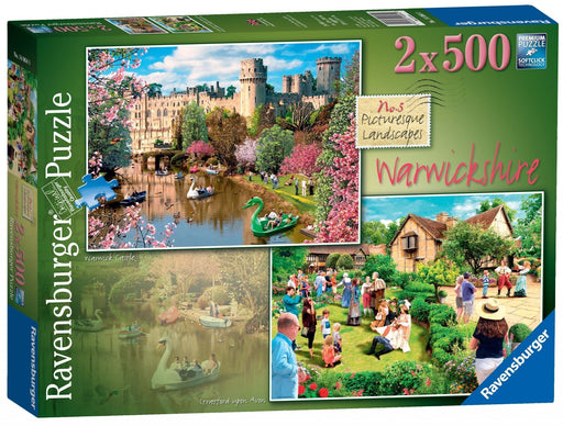 Picturesque Warwickshire 2 x 500 Piece Jigsaw Puzzle