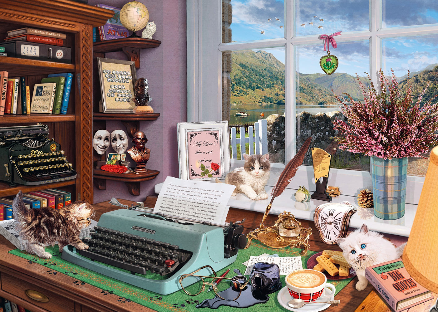 The Writer's Desk 1000 Piece Jigsaw Puzzle