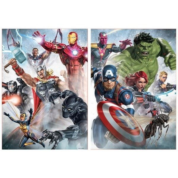 Marvel Avengers 2-in-1 500 Piece Jigsaw Puzzles