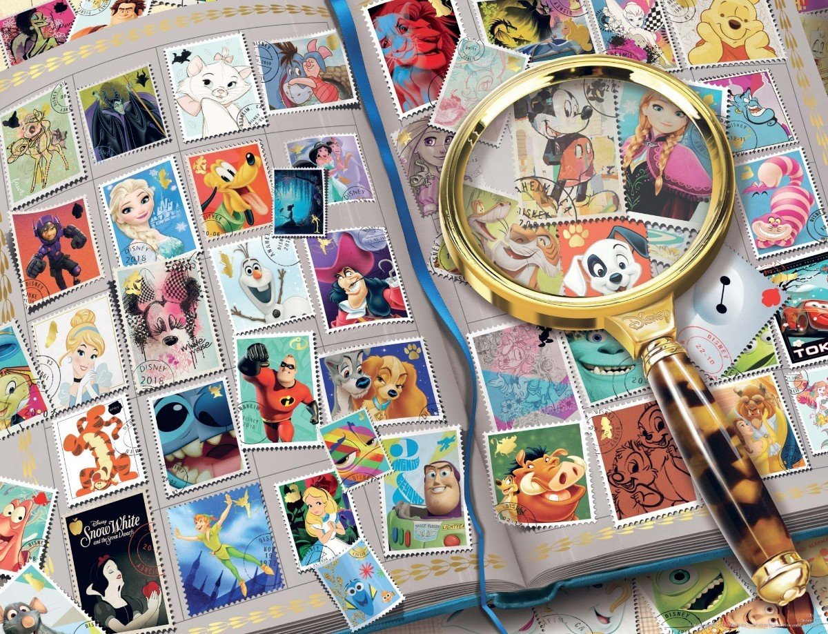 Disney Stamp Album 2000 Piece Jigsaw Puzzle