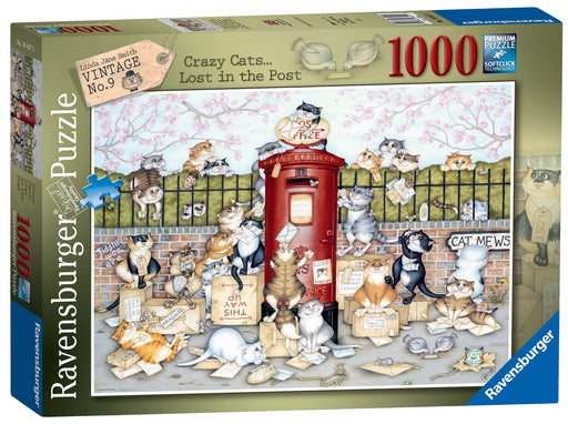 Ravensburger Crazy Cats - Lost in the Post, 1000 Piece Jigsaw Puzzle