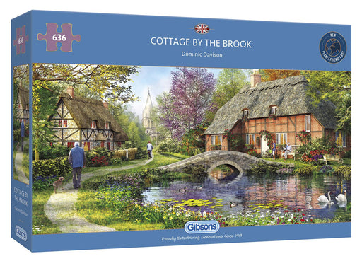 Cottage by the Brook 636 Piece Jigsaw Puzzle