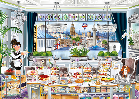 London Tea Party - Wanderlust Collection - 1000 Piece Jigsaw Puzzle