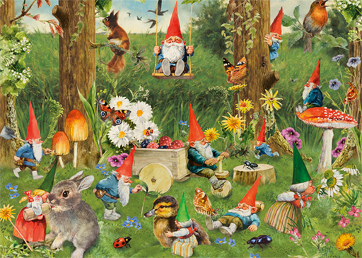 Gnomes at the Forest Edge 1000 Piece Jigsaw Puzzle