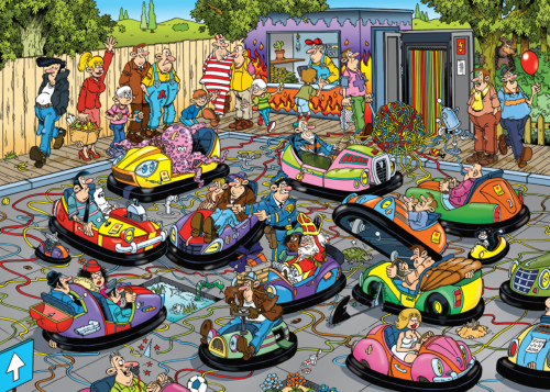 Jan van Haasteren The Fair, Bumper Cars 150 Piece Jigsaw Puzzle