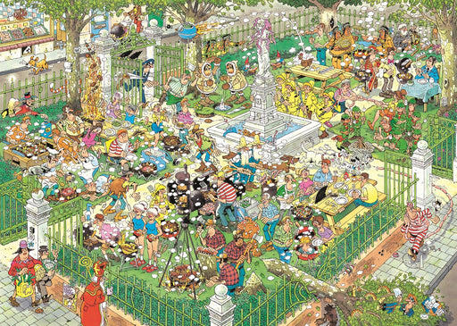 Jan van Haasteren - Food Festival 2 x 1000 pieces with FREE Poster